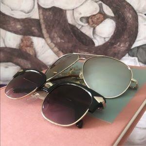 SET OF 2 - Vintage-Style Sunglasses